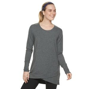 Tek Gear Cross Over Hem Tunic Charcoal XS